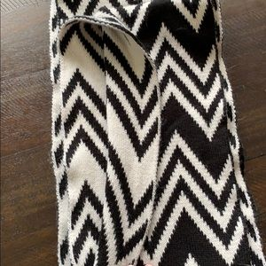 Black and white infinity scarf-only worn once